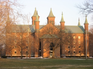 Antioch College, in Yellow  Springs, OH, was the first college in the country to admit both non-whites and women with equal status to white men (Wikipedia)
